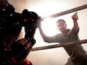 Click in to see the first still of Hugh Jackman in robot boxing movie Real Steel.