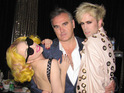 Lady GaGa poses for a photo with Morrissey after her recent Manchester concert.