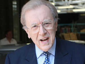 David Frost outside the ITV studios