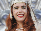 Paloma Faith performing at The 2010 Glastonbury Music Festival held at Worthy Farm in Pilton