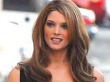'Twilight' star Ashley Greene walking through the backlot of the Jimmy Kimmel show in Hollywood