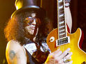 Former Guns N' Roses guitarist Slash reconciles with his estranged wife.
