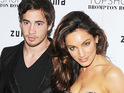 "Danny Cipriani congratulates Kelly Brook on her pregnancy, saying that he is ""really happy for her""."