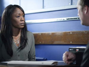 The police question Denise about her relationship with Owen