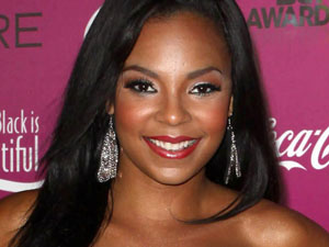 Ashanti arrives at a BET pre-party at Union Station