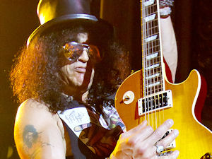 Slash performing live at the Coliseu dos Recreios in Lisbon, Portugal