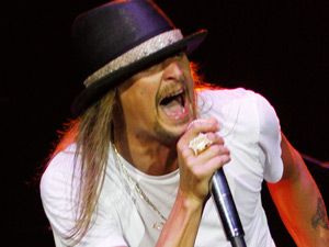 Kid Rock performing live at the 02 Arena, London