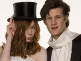 Amy Pond and the Doctor at the Amy's wedding in Doctor Who