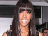 Kelly Rowland outside the Radio 1 building, London