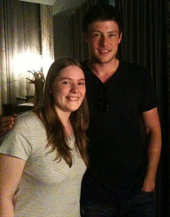 Catriona and Cory Monteith from Glee