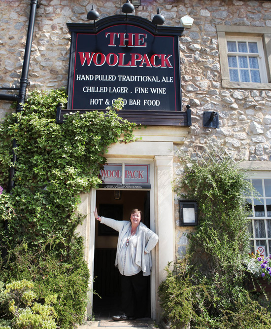 Pauline Quirke at the Woolpack