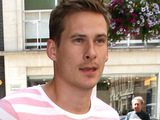 Lee Ryan leaving the BBC Radio 1 studios