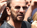 Ringo Starr celebrates his birthday with a peace and love-themed party in New York's Times Square.