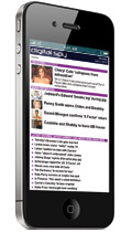 Digital Spy on an iPhone 4