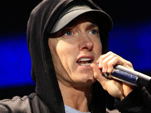 Eminem performing at the T In The Park 2010 Music Festival