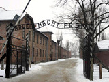 The front gate of Auschwitz concentration camp