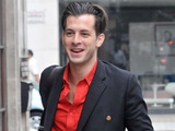 Mark Ronson arriving at the BBC Radio One studios