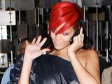 Rihanna leaving a restaurant