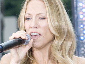 Sheryl Crow performs on CBS&#39; &#39;The Early Show&#39; at CBS Plaza in New York City