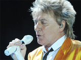 Rod Stewart performing live at the London O2 Arena