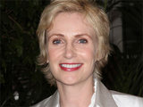 Glee's Jane Lynch attending the Hollywood Foreign Press Association's annual luncheon held in Beverly Hills