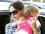 Jennifer Garner with her child
