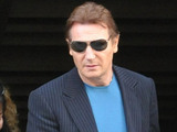 Liam Neeson leaving a Hotel