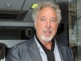 Tom Jones arriving at BBC Radio 1
