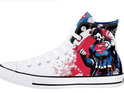 DC Comics enters a deal with shoe company Converse to release superhero-branded footwear.