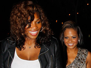 Serena Williams and Christina Milian