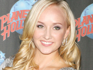 Olympic Gold Medalist Nastia Liukin promoting her new clothing line at Planet Hollywood in New York City