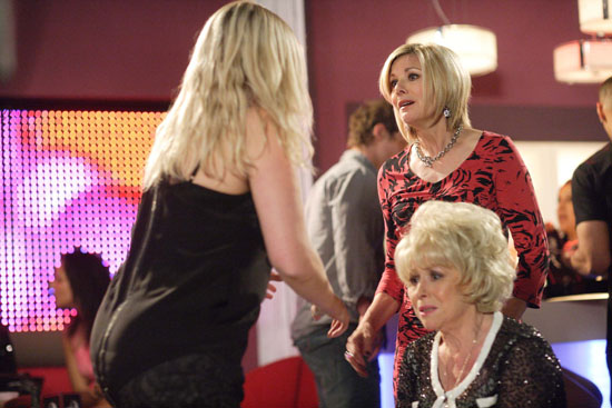 Glenda rushes over to explain herself, thinking that Peggy has already told the truth. She drops herself in it.