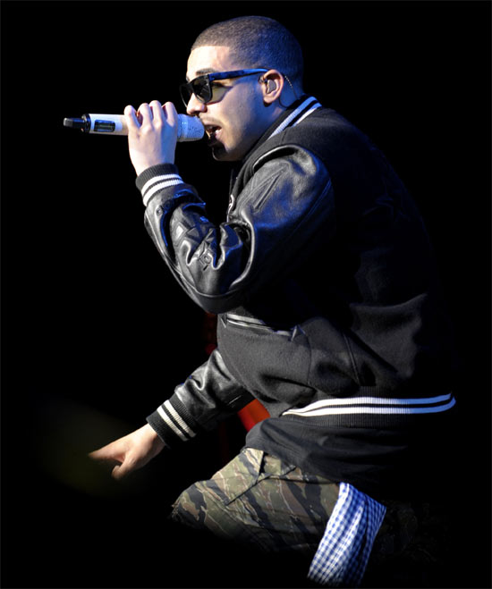 Drake in concert at the Molson Canadian Amphitheatre in Toronto