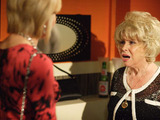 Peggy confronts Glenda in the R&R toilets.
