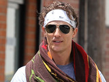 Matthew McConaughey leaving the gym