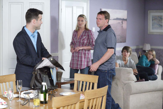 Mr Allcock arrives at the Beale's house and says that inconsistencies have been noticed in Lucy's results.