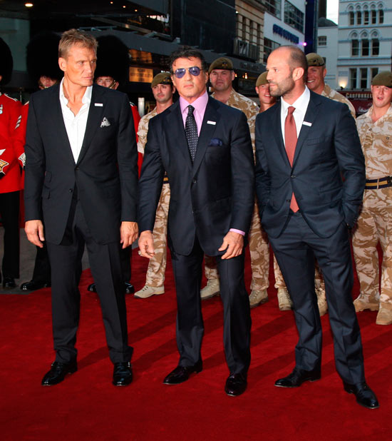 Dolph Lundgren, Sylvester Stallone and Jason Statham