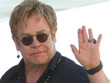 Sir Elton John and partner David Furnish spending time together on a yacht in Saint-Tropez, France