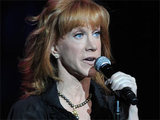 American comedian Kathy Griffin performing at the &#39;Hard Rock Live&#39; event held in Hollywood