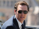 Matthew McConaughey on the set of 'The Lincoln Lawyer'
