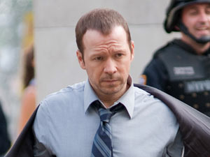 Donnie Wahlberg on the set of 'Blue Bloods'