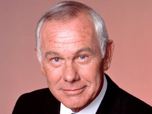 "Johnny Carson, host of ""The Tonight Show"""