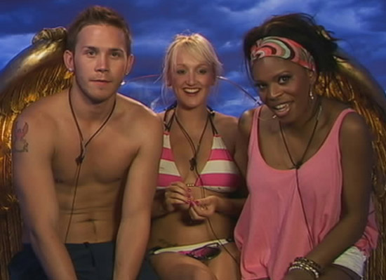 JJ and others in the diary room