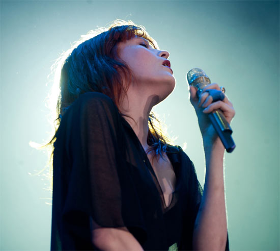Florence Welch of Florence and the Machine performing at The V Festival