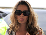 Nadine Coyle arrives at Heathrow Airport