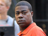 Tracy Morgan filming on location for '30 Rock'