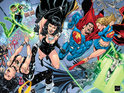 DC Comics previews Ethan Van Sciver's gatefold cover to the milestone JLA #50.