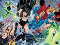 DC Comics previews Ethan Van Sciver's gatefold cover to the milestone JLA #50.