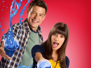 Finn and Rachel from Glee Season 2