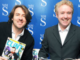 Jonathan Ross and Mark Millar at a magazine signing
